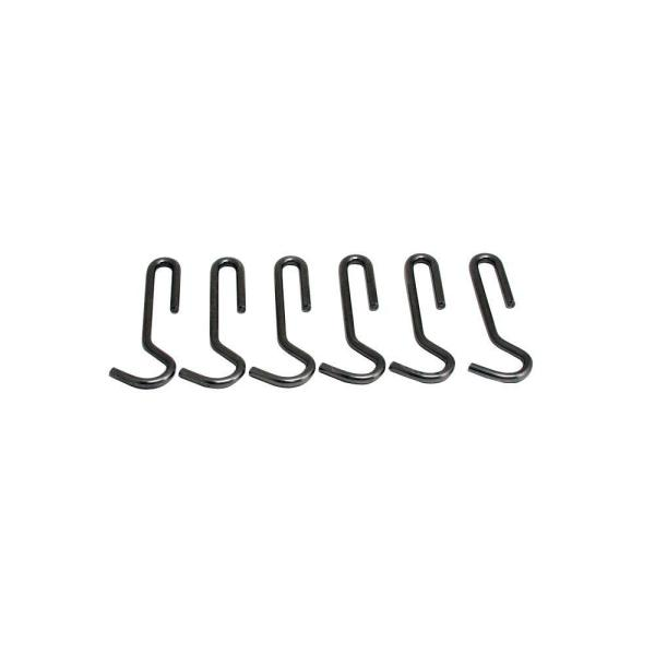 Enclume Handcrafted 4.5 in. Straight Pot Hooks Hammered Steel (6 Pack)