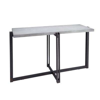 Dakota Gray Concrete Top Console Table