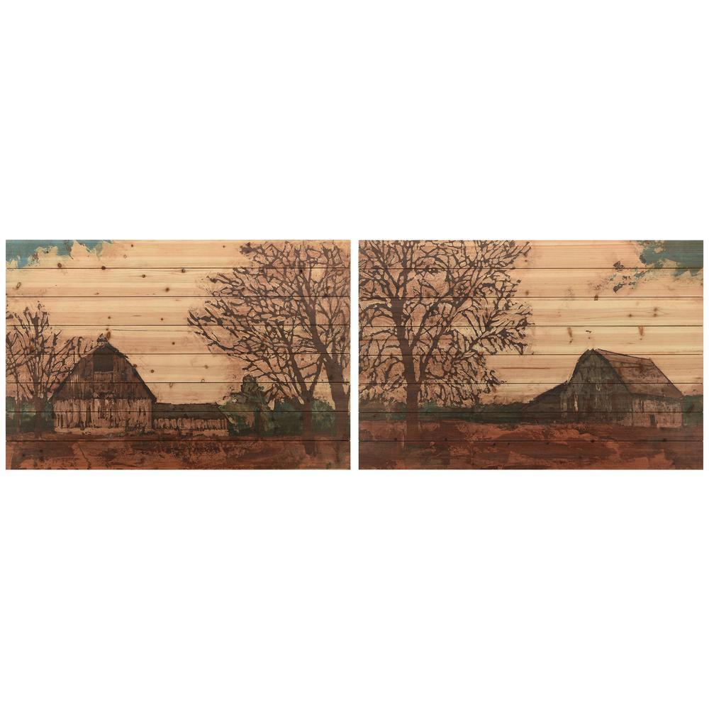 Empire Art Direct ''Erstwhile Barn 1 and 2'' Arte de Legno