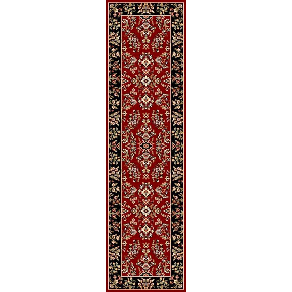 Lyndhurst Red/Black 2 ft. x 10 ft. Runner Rug