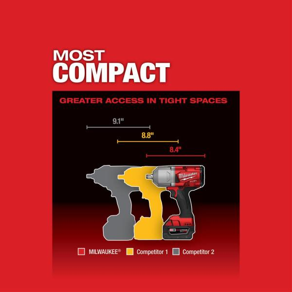 """Tool Only M18 FUEL High Torque /½/"""" Impact Wrench with Pin Detent 2766-20"""