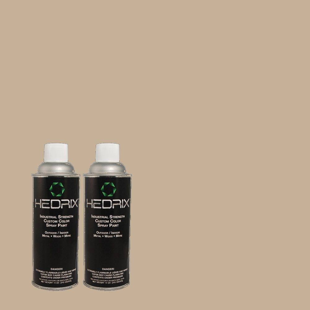 Hedrix 11 oz. Match of 307 Shadow Gray Flat Custom Spray Paint (2-Pack)