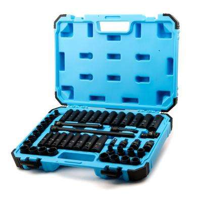 3/8 in. Drive SAE/Metric Master Impact Socket Set with Adapters and Extensions (48-Piece)