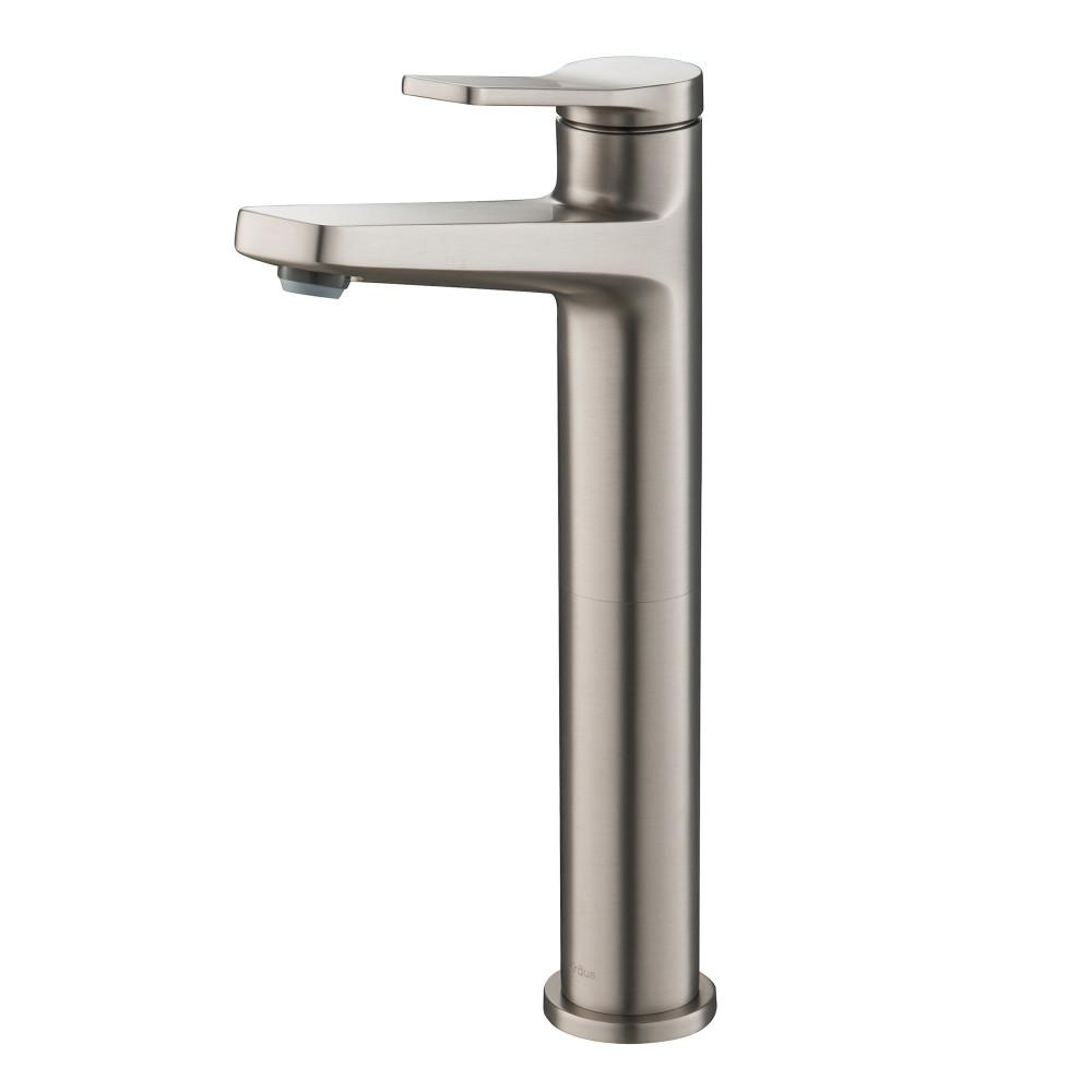 KRAUS Indy Single Hole Single-Handle Vessel Bathroom Faucet in Spot Free Stainless Steel was $129.95 now $99.95 (23.0% off)