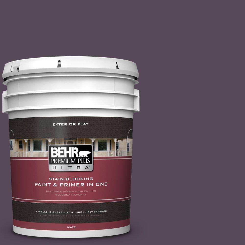 BEHR Premium Plus Ultra 5-gal. #M100-7 Deep Merlot Flat Exterior Paint