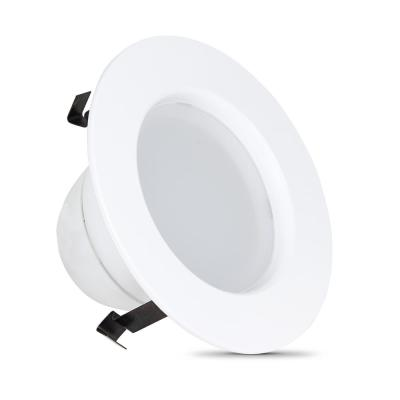 4 in. 50W Equivalent Dimmable White Integrated LED Recessed Lighting Retrofit Trim Downlight with Color Changing CCT