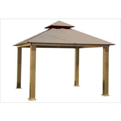 14 ft. x 14 ft. Khaki Gazebo