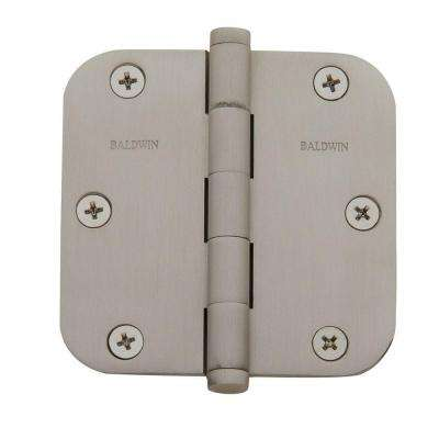 3.5 in. x 3.5 in. Satin Nickel Radius Hinge