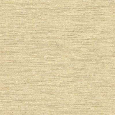 8 in. x 10 in. Everest Yellow Faux Grasscloth Wallpaper Sample