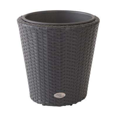 Vista 15 in. Round Resin Wicker Planter