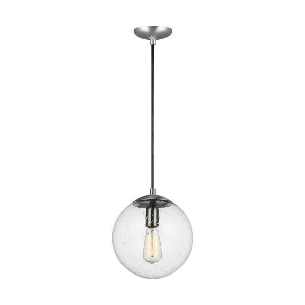 Hanging Globe 1-Light Satin Aluminum Pendant