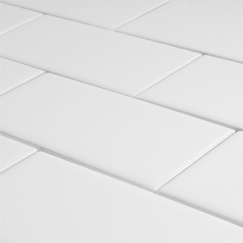 Daltile Rittenhouse Square Arctic White 3 In X 6 Ceramic Modular Wall Tile 12 5 Sq Ft Case 019036mod1p4 The Home Depot