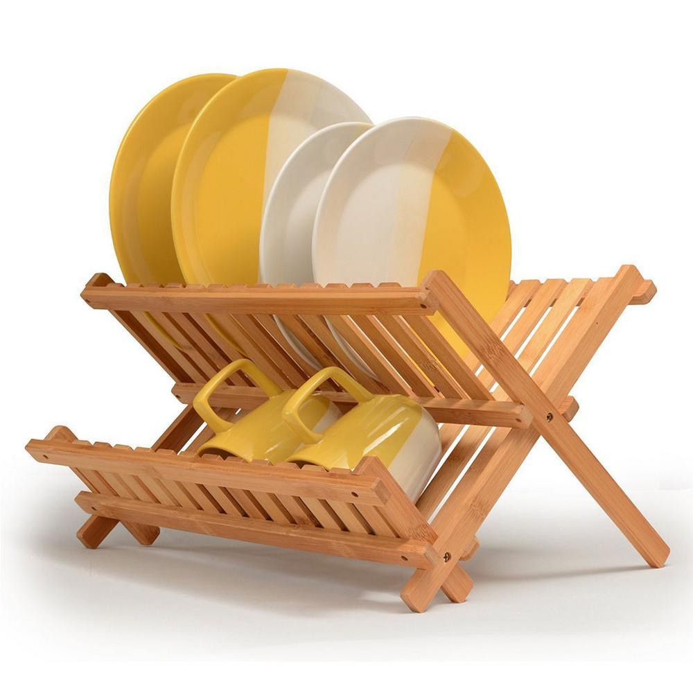 Bambusi Bamboo Folding Dish Rack BEL-DR