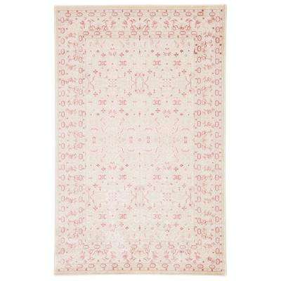 Fables Pink 7 ft. 6 in. x 9 ft. 6 in. Damask Rectangle Rug