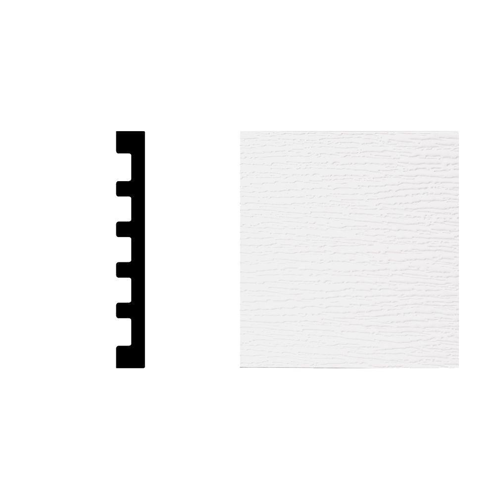 2497 11/16 in. x 5-13/16 in. x 7 ft. PVC Composite White Door Jamb Moulding