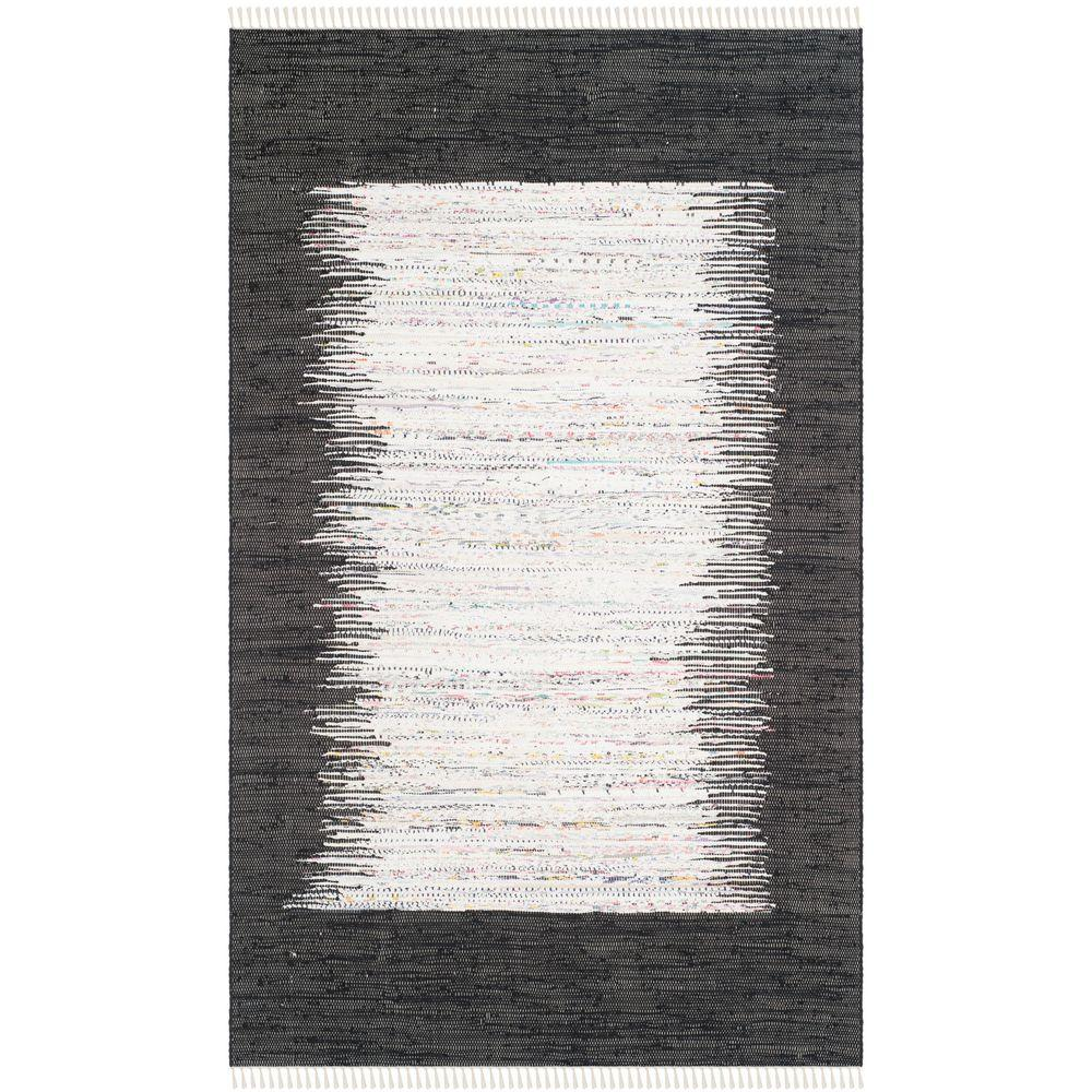 Safavieh Montauk Ivory/Black 4 ft. x 6 ft. Area Rug