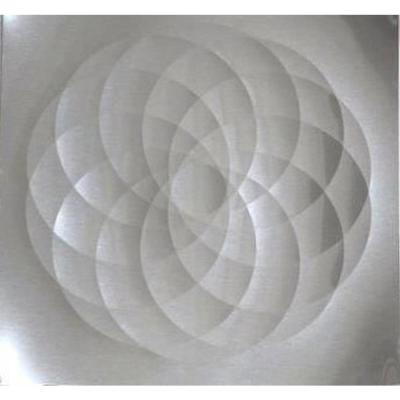 36 in. x 30 in. Stainless Steel Spheres Backsplash