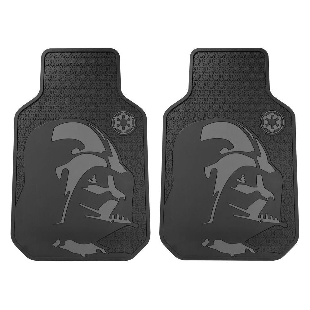 18 in. x 27 in. Vinyl Star Wars Darth Vader Heavy-Duty Utility Car Mats (2-Piece)
