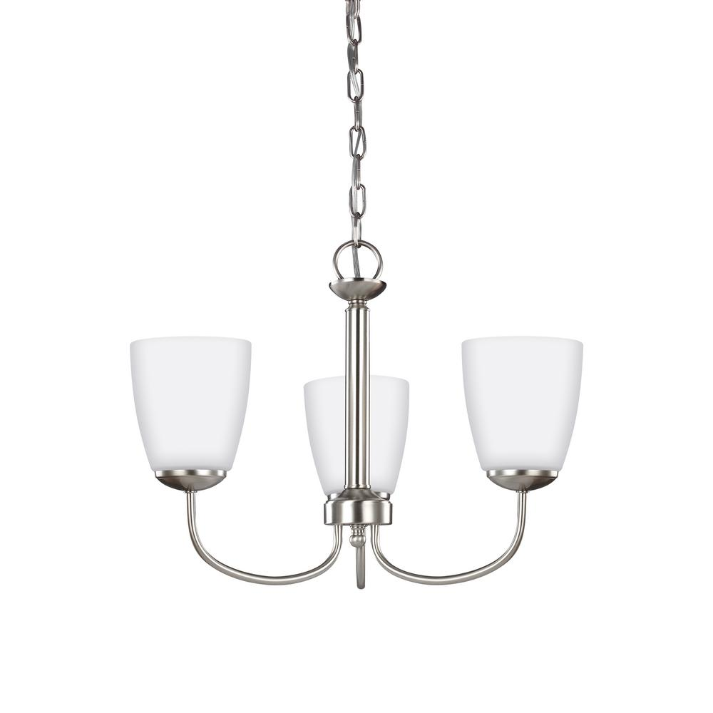 Bannock 3-Light Brushed Nickel Chandelier