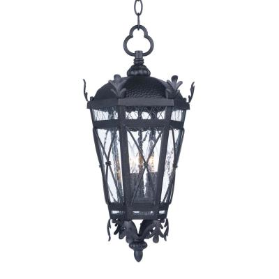 Canterbury 10 in. Wide Artesian Bronze 3-Light Outdoor Hanging Lantern