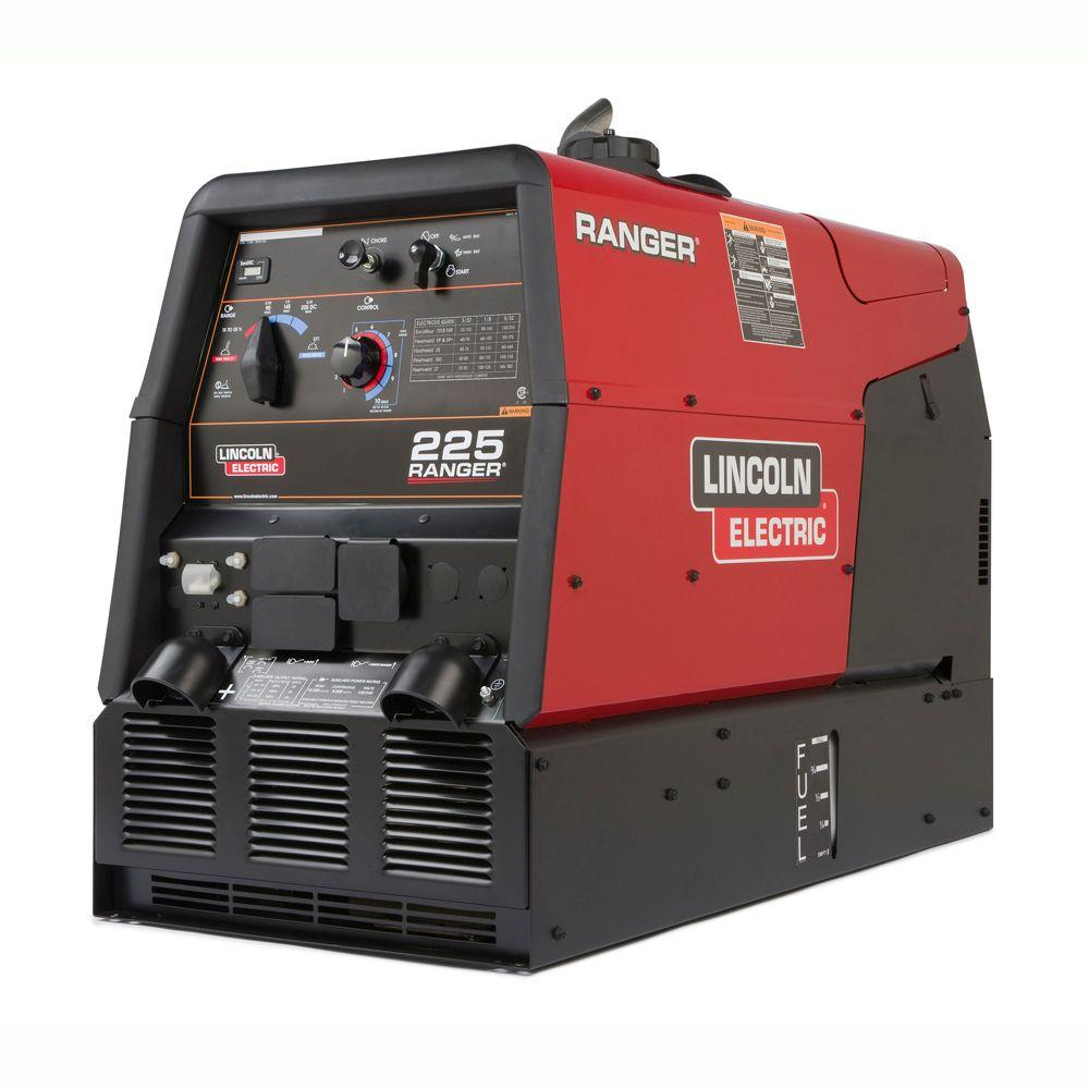 Lincoln Electric 225 Amp Ranger 225 Gas Engine Driven Welder (Kohler), Multi-Process, 10.5 kW-Watt Peak AC Generator Power