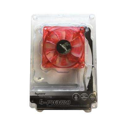 b-PWM 80 mm Red 2 Ball Bearing PWM Red LED 12-Volt DC Fan, Red
