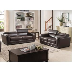 Stupendous Calvin Dark Brown Modern Style Leather Living Room Sofa Squirreltailoven Fun Painted Chair Ideas Images Squirreltailovenorg