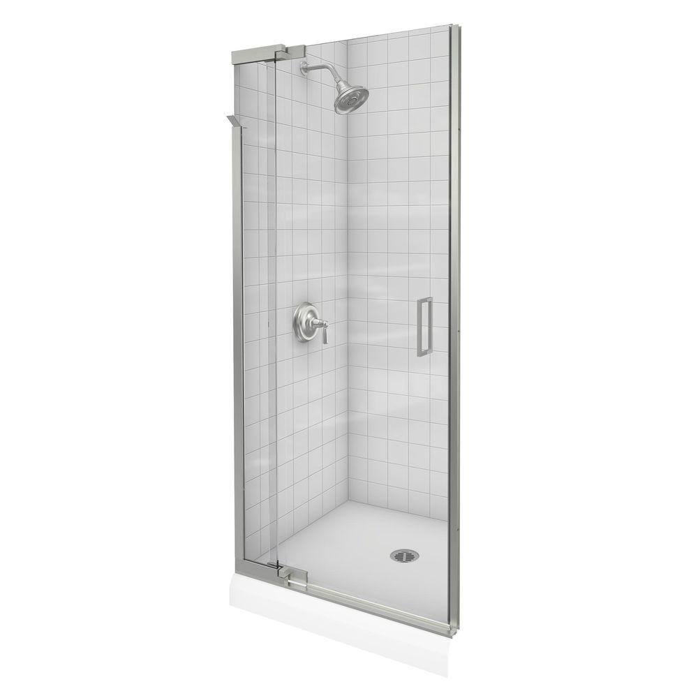 Kohler Purist 36 In X 72 In Heavy Semi Frameless Pivot Shower Door