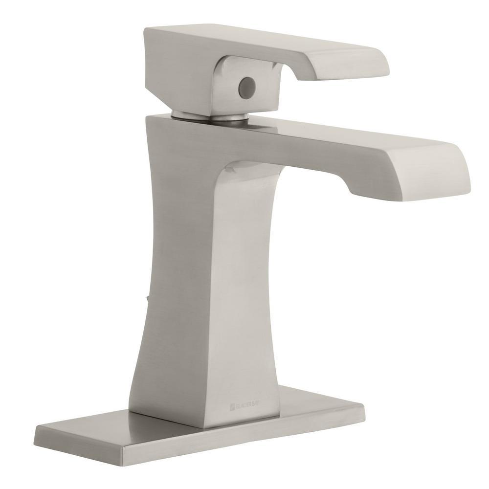 Adelyn Single Hole Single-Handle High-Arc Bathroom Faucet in Brushed Nickel