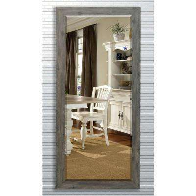 30.5 in. x 71 in. Gray Barnwood Beveled Oversized Full Body Mirror