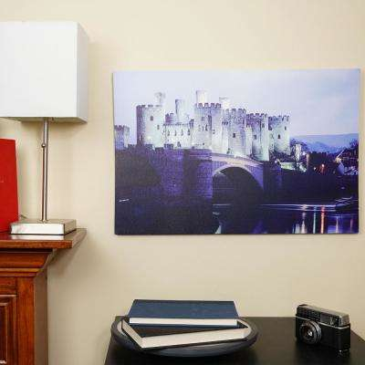 15.75 in. x 23.5 in. LED Lighted Conwy Castle in Wales Canvas Wall Art