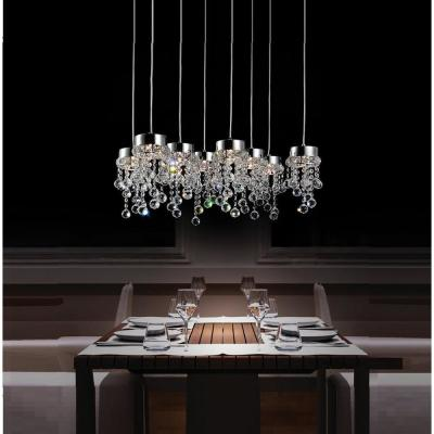 Monica 8-Light Chrome Chandelier
