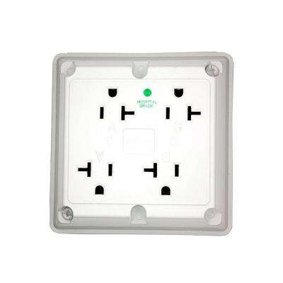 20 amp hospital grade extra heavy duty grounding 4-in-1 outlet, white