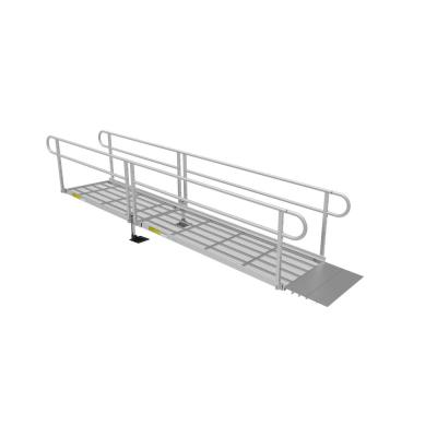 PATHWAY 3G 14 ft. Wheelchair Ramp Kit with Expanded Metal Surface and Two-line Handrails