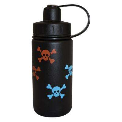 13 oz. Twist Triple Insulated Bottle with Screw Cap - Black with Skulls (Powder Coat)