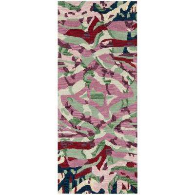 Soho Rose/Multi 3 ft. x 6 ft. Runner Rug