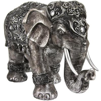 Oriental Furniture 20 in. Auspicious Elephant Decorative Statue