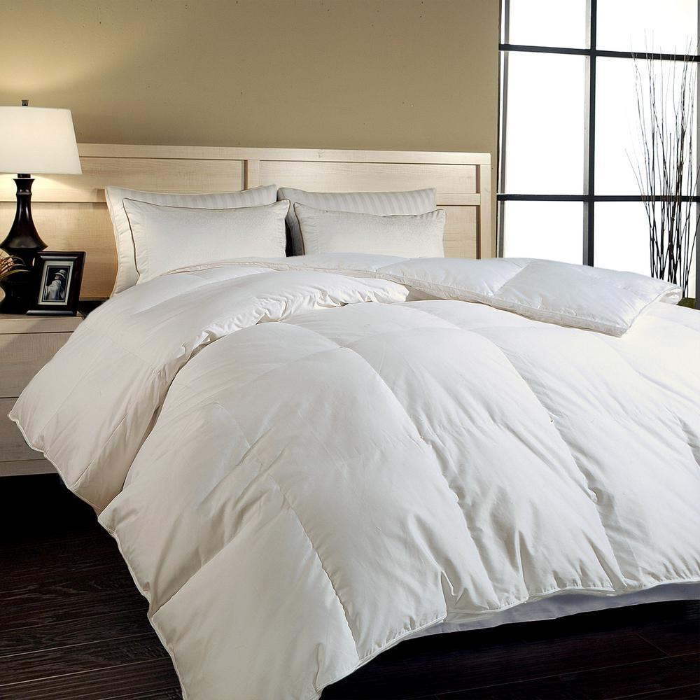 Hungarian White Goose Down King Comforter