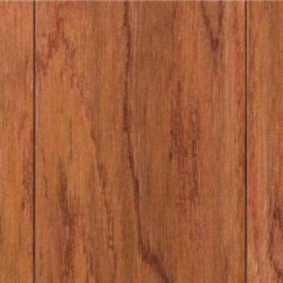 Take Home Sample - Hand Scraped Oak Gunstock Engineered Hardwood Flooring - 5 in. x 7 in.