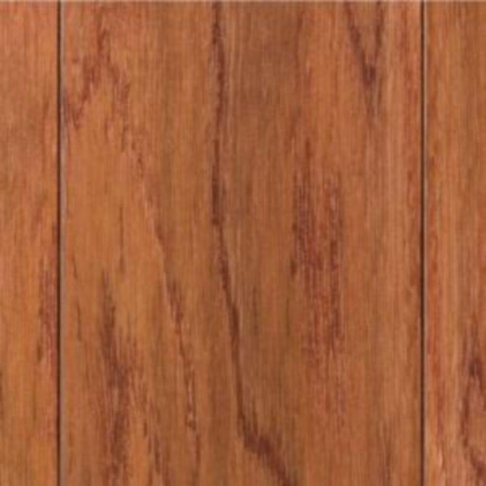 Take Home Sample - Hand Scraped Oak Gunstock Engineered Hardwood Flooring - 5 in. x 7 in.