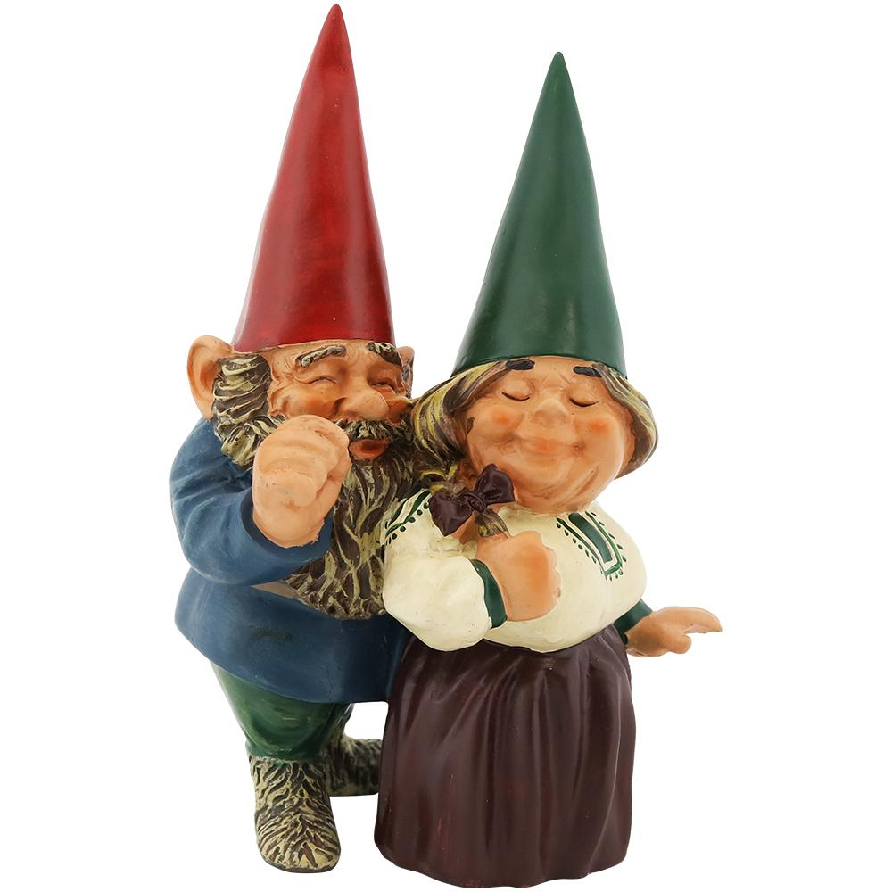 Gnome In Garden: Sunnydaze Decor 8 In. Arnold And Sarah Gnome Garden Statue