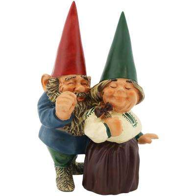 8 in. Arnold and Sarah Gnome Garden Statue