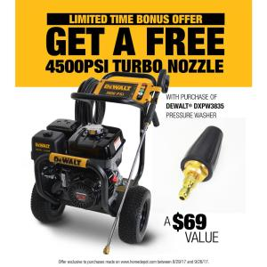 Dewalt 3800 PSI @ 3.5 GPM Gas Pressure Washer Powered by HONDA with Bonus Turbo... by DEWALT