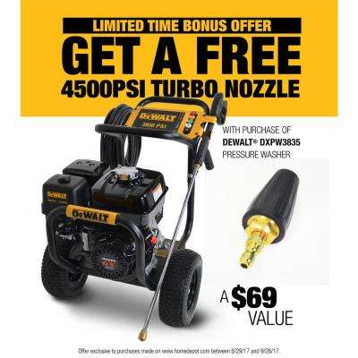 3800 PSI @ 3.5 GPM Gas Pressure Washer Powered by HONDA with Bonus Turbo Nozzle