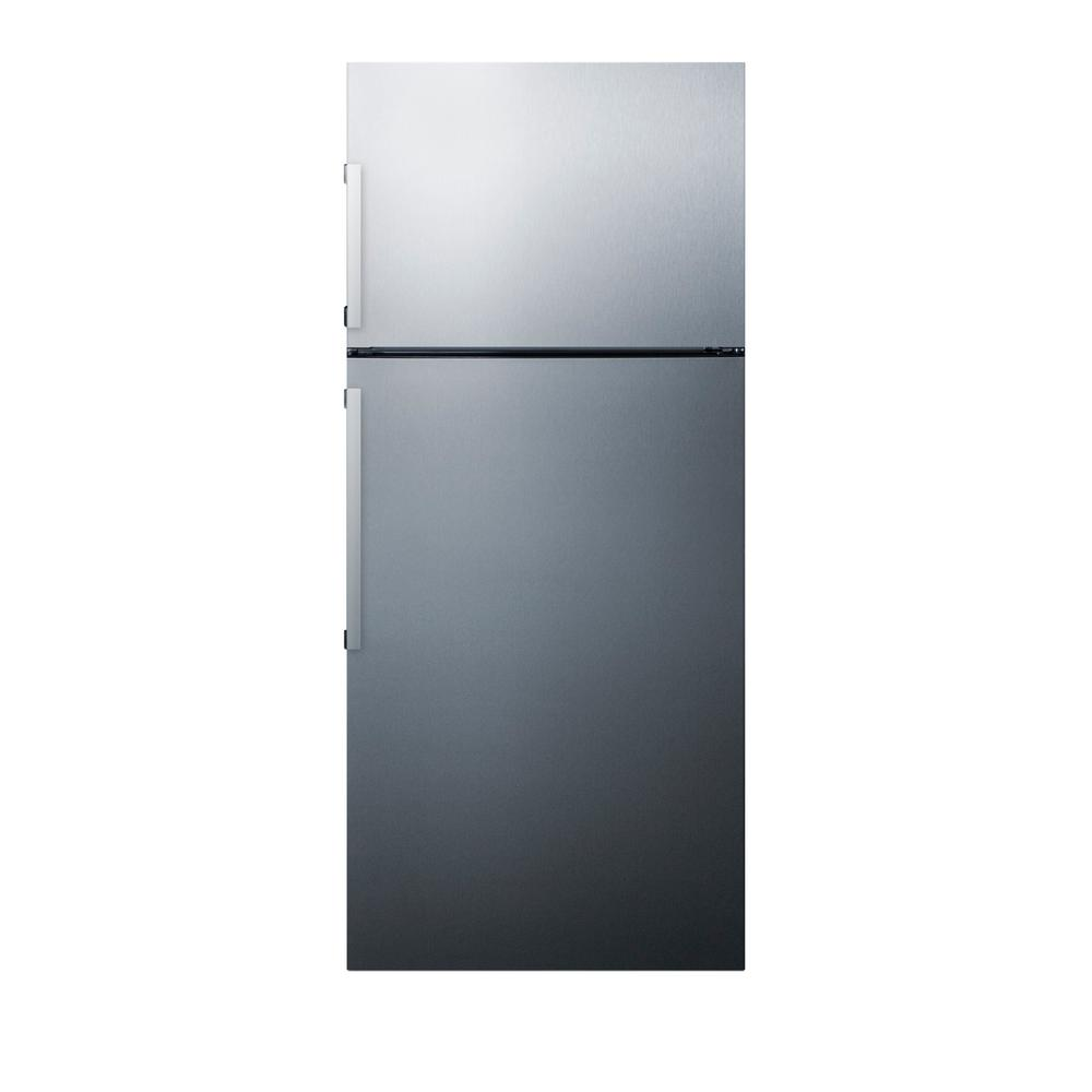 Summit Appliance 27 in. 12.6 cu. ft. Top Freezer Refrigerator in ...
