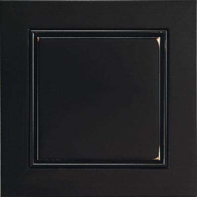 14.5x14.5 in. Cabinet Door Sample in Belgrade Maple Heirloom Black