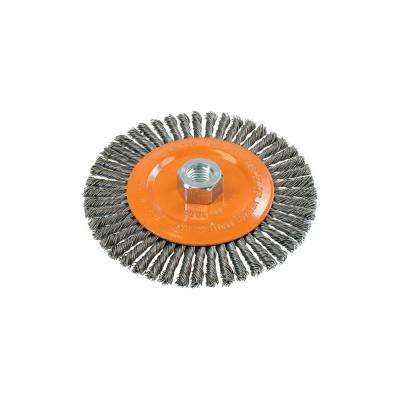 6 in. Stringer Bead Brush with Knot-Twisted Wires 5/8 in. - 11 in. Arbor