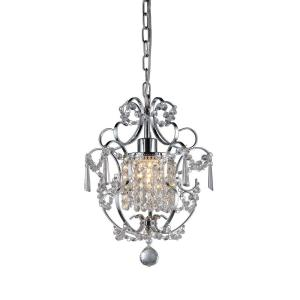 Warehouse of Tiffany Veronica 1-Light Silver Crystal Indoor Hanging Chandelier by Warehouse of Tiffany