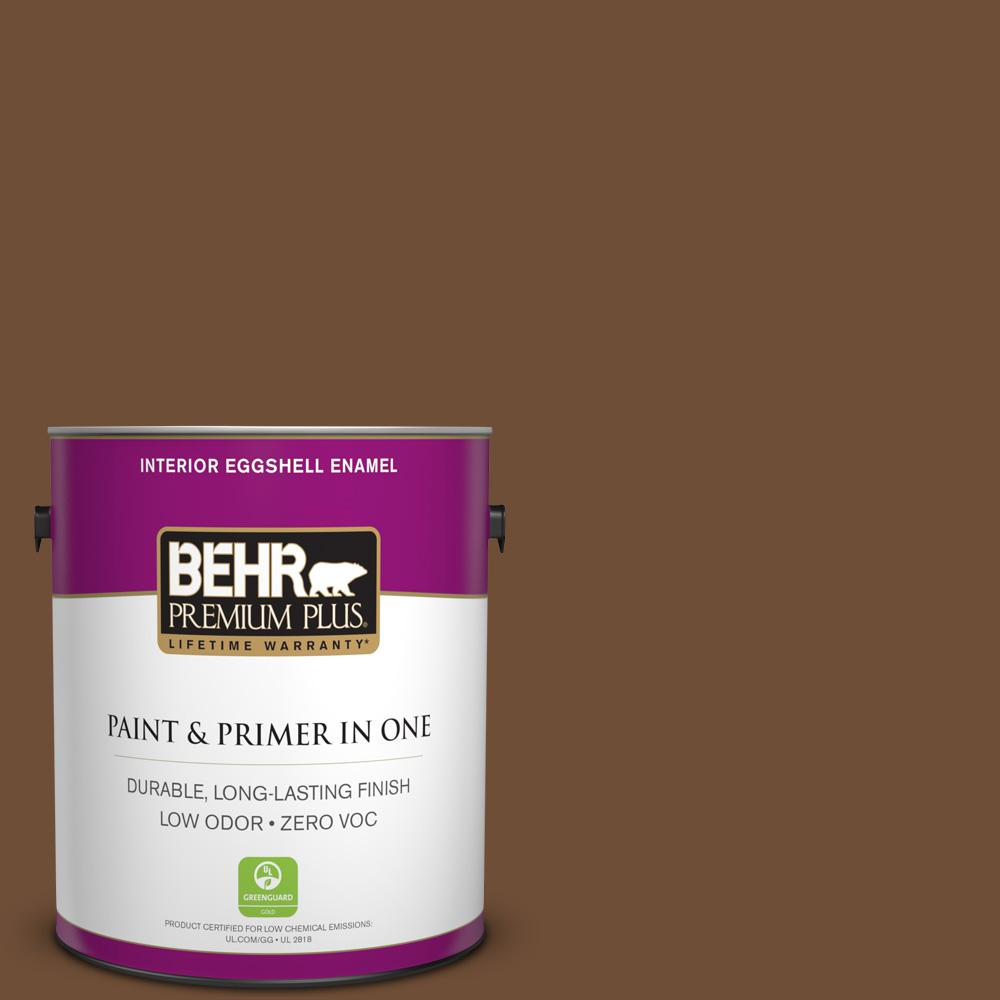 1 gal. #PPU4-20 Ancient Root Zero VOC Eggshell Enamel Interior Paint