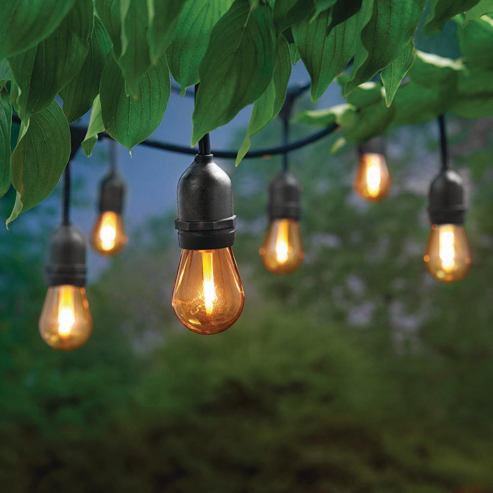 12 ft. 6 Socket LED Flame Effect Indoor/Outdoor String Light (4-Pack)
